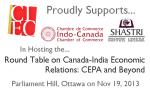 ICCC, Shastri Roundtable Ottawa Nov 2013